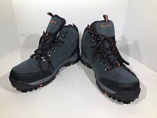 Skechers Relment Pelmo Men Sz 10.5 Blue Gray  Suede Hiking Boot Shoes W1-35