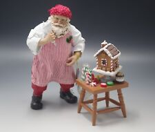 CLOTHTIQUE POSSIBLE DREAMS GINGERBREAD ARCHITECT SANTA 2 pc SET MIB #71378 RARE