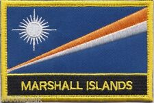 Marshall Islands Flag Embroidered Patch Badge - Sew or Iron on