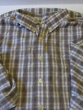 Puritan Wrinkle Resistant Men's 2XL long sleeve button up shirt browns