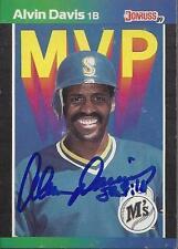 Alvin Davis Seattle Mariners 1989 Donruss MVP Signed Card