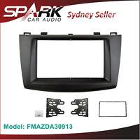 Double 2 DIN Facia Kit Panel Fascia Dash For Isuzu D-max Dmax LS 2009-2012 Grey