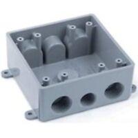 Carlon E382de Pvc 2 Gang Switch Boxes Gray Ebay