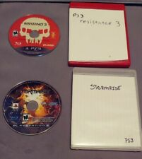 PS3 Game Lot. (Resistance 3 And Stormrise) Disks Only With Cases.