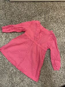 18 Month Toddler Girl Pink Swim Cover Up With Long Sleeves