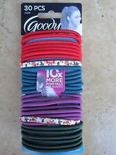 Goody Ouchless Elastic No Metal Ponytail Holders 30 Pack Multi- Colored NEW 7699