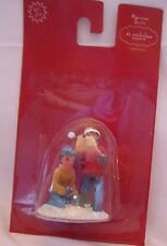 St Nicholas Square Village Accessories Two Boys Throwing Snowballs NEW