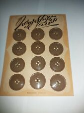 Vintage French Buttons Brown 27mm