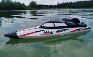 RC 2,4 Ghz. Speedboot TIGER SHARK W-12 ferngesteuertes Schiff Boot Rennboot RTR