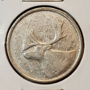 1955 Canada 25 SILVER twenty five cents - COMBINED SHIPPING - C25-076