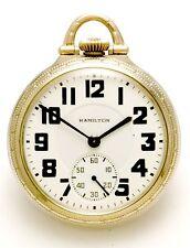 Hamilton 950E Railroad Pocket Watch Vintage CA1936 - 23 Jewel Movt, 16 Size Case