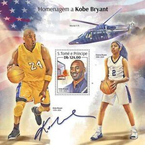 St Thomas - 2020 Athlete Kobe Bryant Tribute - Stamp Souvenir Sheet - ST200115b