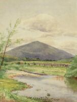 THOMAS LEE BULSON Listed 19th Century watercolor New Hampshire White Mountains