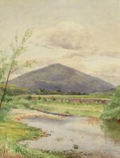 THOMAS LEE BULSON, Listed, 19th C watercolor, New Hampshire White Mountains
