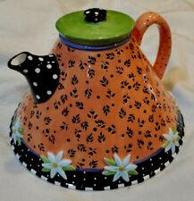 Mary Engelbreit Teapot 1997 Charpente Full Size Flare Bottom
