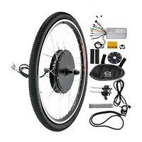 "26"" Rear Wheel Kit Conversion 48v 1000w Motor Hub Electric Bicycle E Bike MTB"