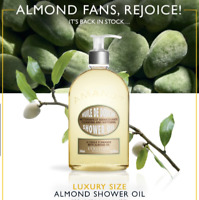 NEW L'Occitane Almond Shower Oil 500ml Delicious Natural Hydrating Free Post