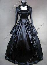 Victorian Black Gown Dress Steampunk Reenactment Punk Theater Clothing V 119 M