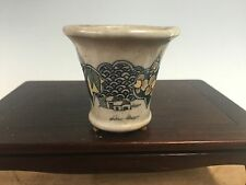 "Mame Or Accent Size Sano Daisuke Hand Painted Bonsai Tree Pot, 2 3/8"" Gold Feet"
