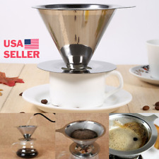 Reusable Stainless Steel Pour Over Coffee Maker
