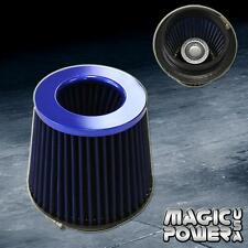 "UNIVERSAL 4"" INCH BLUE INLET JDM SHORT RAM/TURBO AIR FLOW BLUE INTAKE FILTER"