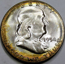 1954-S Franklin Half Dollar Superb Gem BU MS+++... A Blazer, 100% Original, NICE