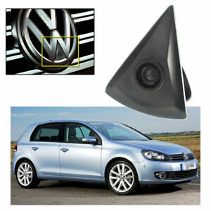 Car Front View Camera CCD Wide Degree Logo Embedded for VW Golf 2009-2012 MK6