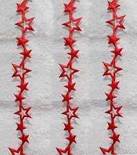 2m Schleifenband (0,50 €/m) Weihnachten Sterneband Sterne rot Stern Geschenkband