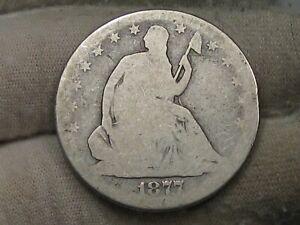 1877-s Seated LIBERTY Half Dollar. #99