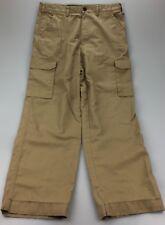 MENS Khaki Canvas Cargo Travel Pants NATIONAL GEOGRAPHIC 34x32 (msr 34x32)