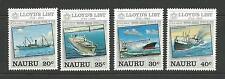 Nauru 1984 Llyod's List   As Issued SG No's 295/298   Complete MUH