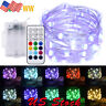 4/3/2/1PACK RGB+WW Multicolor Led Fairy String Lights 5M 50LEDs Battery Operated