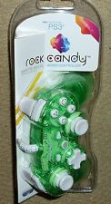 PLAYSTATION 3 PS3 WIRED USB CONTROLLER GAME PAD Clear Green BRAND NEW Rock Candy