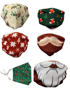 Brand New Reusable, Fully Washable Christmas Themed Face Masks!!! FREE P&P!!!