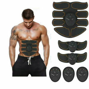 USB Rechargeable Smart EMS Fitness Belt Abs Muscle Toning Trainer Stimulator Kit