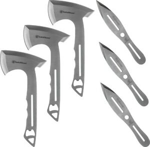 Smith & Wesson 1122228 Throwing Combo 3 Axes 3 Knives