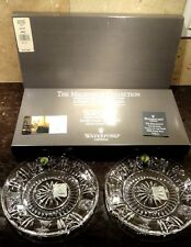 "*NEW* Waterford Crystal MILLENNIUM (1996-2005) 5 Toasts Luncheon Plate 8"" Set 2"
