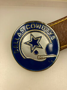 Vintage 1971 NFL Properties INC Dallas Cowboys Football Team Belt Buckle & Belt