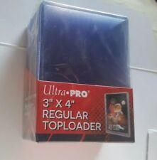 25 Count Ultra Pro 3x4 Regular Clear Rigid Top Loaders Card Protectors