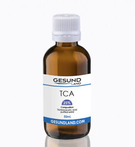 Pure 25%  T C A Peeling tattoo removal peel  10ml, 50ml acid