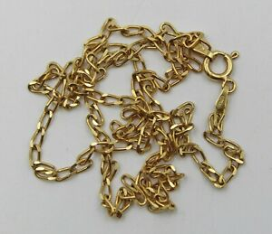 """Vintage Italian 18K Yellow Gold Delicate Diamond Cut Cable Link Chain 20"""""""