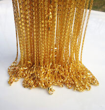 "NEW 10PCS Gold plated Hollow Snake Chain Necklace With Lobster clasp, 20 "" L"