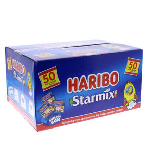 Haribo Starmix Box Of 50 Mini Bags Great For Party Sharing 800g
