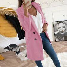 Women Lady Winter Warm Lapel Wool Coat  Jacket Long Sleeve Overcoat Outwear