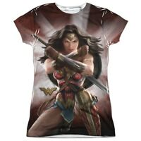 Authentic DC Comic Wonder Woman Movie Protector of Humanity Ladies Front T-shirt
