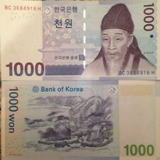 SOUTH KOREA 2007 1000 WON P-54 UNCIRCULATED BANKNOTE BUY FROM A USA SELLER !!!!!