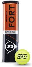 Dunlop Tennisbälle Fort Clay Clourt 4er Dose  Gelb