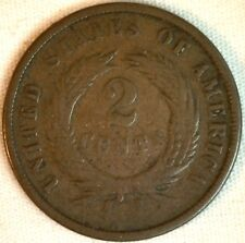 1867 2 Cents United States Type Coin Copper Two Cent Shield Coin Good K