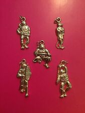🐢TMNT Turtles GOLD CHARM KEYCHAIN PENDANTS-Vintage Mirage-Tortues Ninja/FRENCH