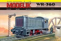 ORIGINAL PAPER-CARD MODEL KIT - German diesel locomotive from the Second World W